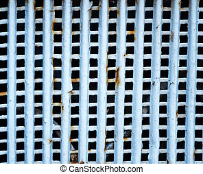Rusty metal grid for background