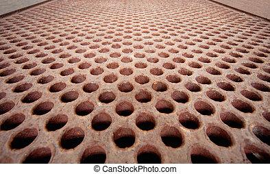 Rusty metal lattice - heat exchanger