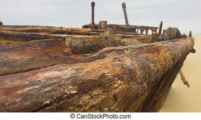 Rusty metal macro shot