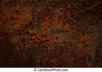 Rusty metal surface.