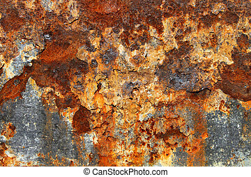 Rust on old textured metal