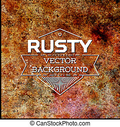 Rusty metal vector background