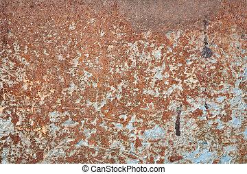 Rusty metallic surface texture