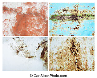 rusty metallic surfaces great as a background