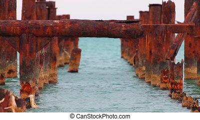 rusty old pier