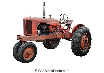 Rusty Old Tractor - Vintage rustic tractor