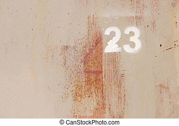 Rusty Painted Wall Texture. Number 23.