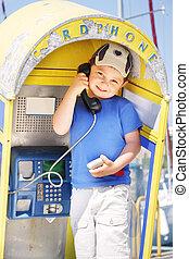 Rusty pay-phone