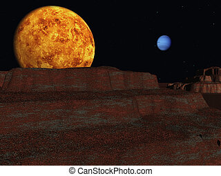 Rusty planet