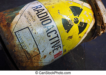 Radioactive container - Rusty Radioactive container
