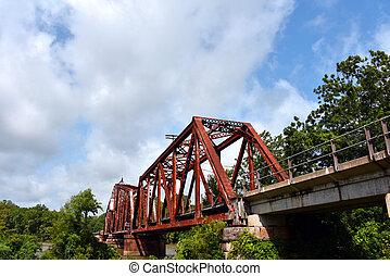 Rusty Railroad Bridge Crosses White River - Rusty railroad ...