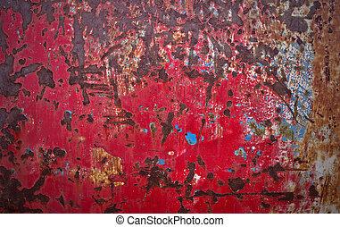 rusty red metal plate