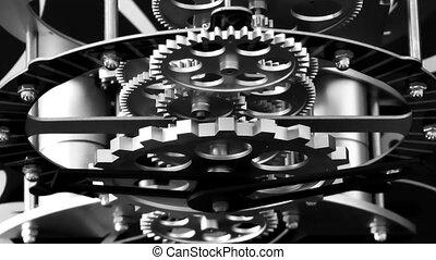 Rusty Retro Mechanic Clock Gears