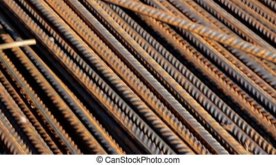 Rusty Round Bars Completely Piled