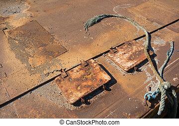 Rusty sea platform