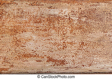 Rusty shabby metal background with old scratches on gray paint.