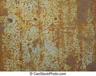 Rusty sheet of metal