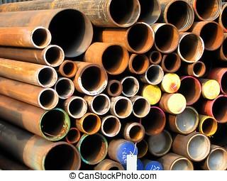 Rusty Steel Pipes - -- of various diameters