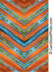 Rusty stripes - Abstract design from rusty corrugated metal