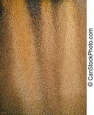 Rusty surface.