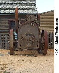 RUSTY TRAIN - AN OLD TRAIN IN THE TOWN OF BALLARAT USED...