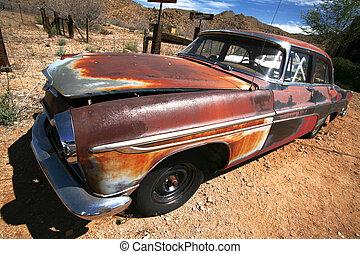 rusty vintage american car