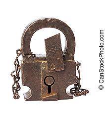 Rusty vintage lock