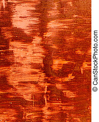 Rusty vintage orange metal wall texture as background
