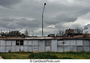 rusty warehouse shack