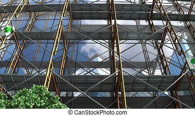 """rusztowanie, """"building, signboard."""", pod zbudowanie"""