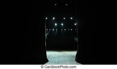 rusztowanie firanka, scenes., materiał, prawdziwy, opera, ...
