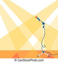 rusztowanie, mikrofon