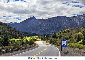 ruta, 40, meridional, argentina