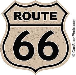 ruta 66, señal