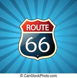ruta, señal, 66