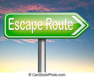 ruta, seguridad,  escape