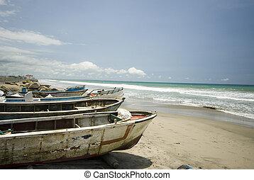 ruta, sol, ボート, del, 釣り, 太平洋, エクアドル