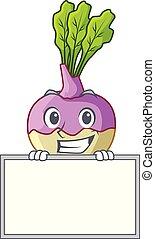 rutabaga, sorrindo, tábua, raiz, caricatura, jardim