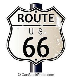 rute 66, hovedvej underskriv