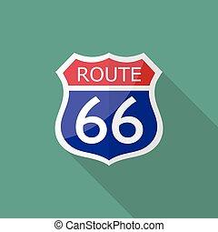 rute 66, tegn