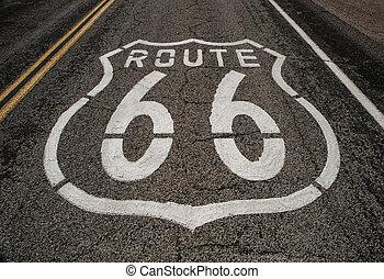 rute 66, vejbane