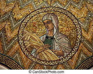 Ruth, mosaic