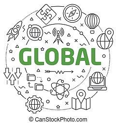 rutsche, global, darstellung, linear, abbildung