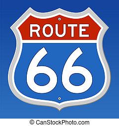 rutt 66, vägmärke