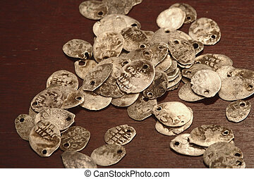 ruusian coins on the table
