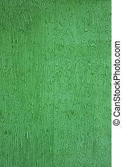 ruvido, legno, fondo, in, intenso, verde, colorare