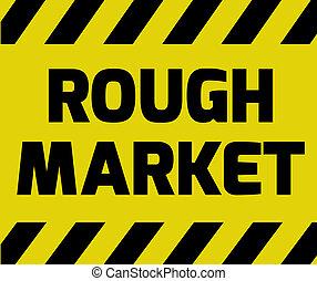 ruvido, mercato, segno