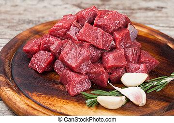 ruw rundvlees, vlees