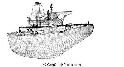 ruw, scheeps , tanker, olie, vervoerder