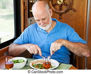 rv, 食べること, 健康, -, 年長 人